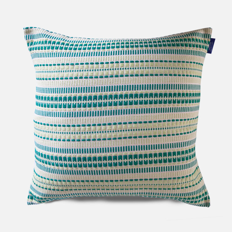 Delft - Dull Sap and Turquoise Cushion Cover