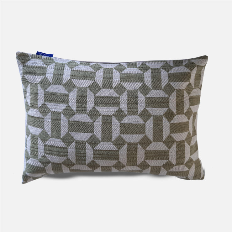 DUMBARA GEOMETRIC LUMBER DARK GREY 18X12 CUSHION COVER