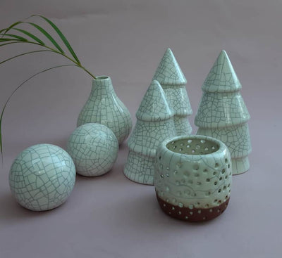 Ceramic Christmas Decor Set