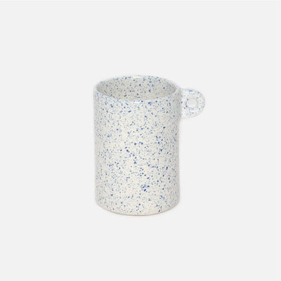 Beaker  White/Blue  Speckle