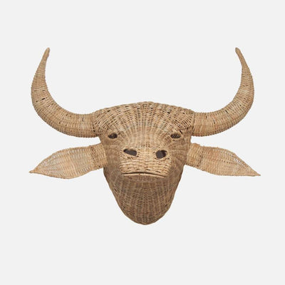 Cane Water Buffalo Head