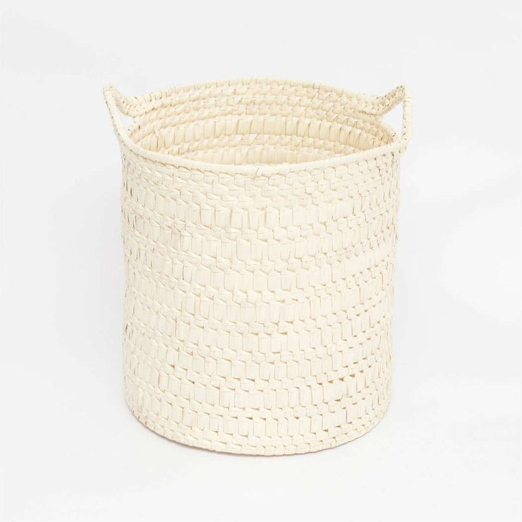 Circular Basket with Handles M natural