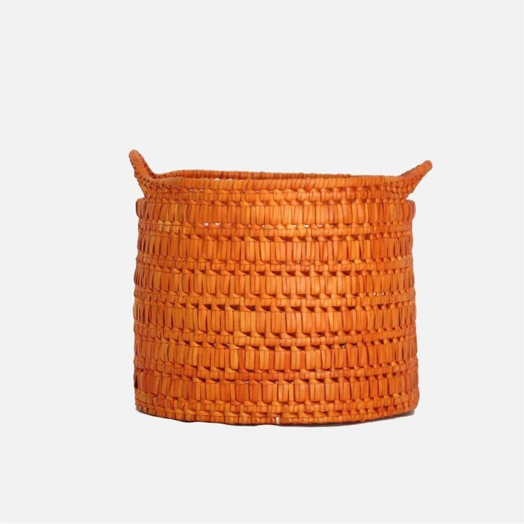 Circular basket with handles S orange