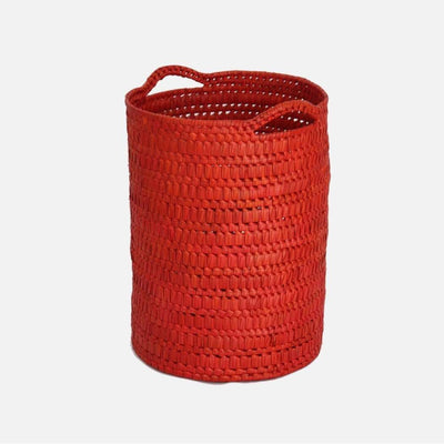 Circular Basket with Handles Tall Orange