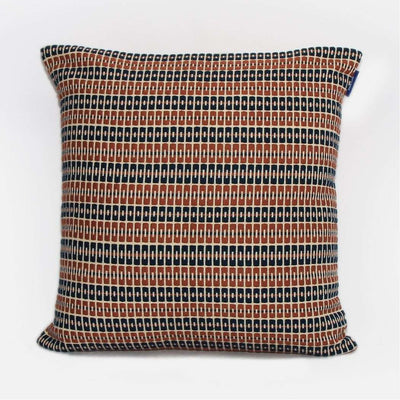Delft - Brown Mustard and Navy Cushion Cover