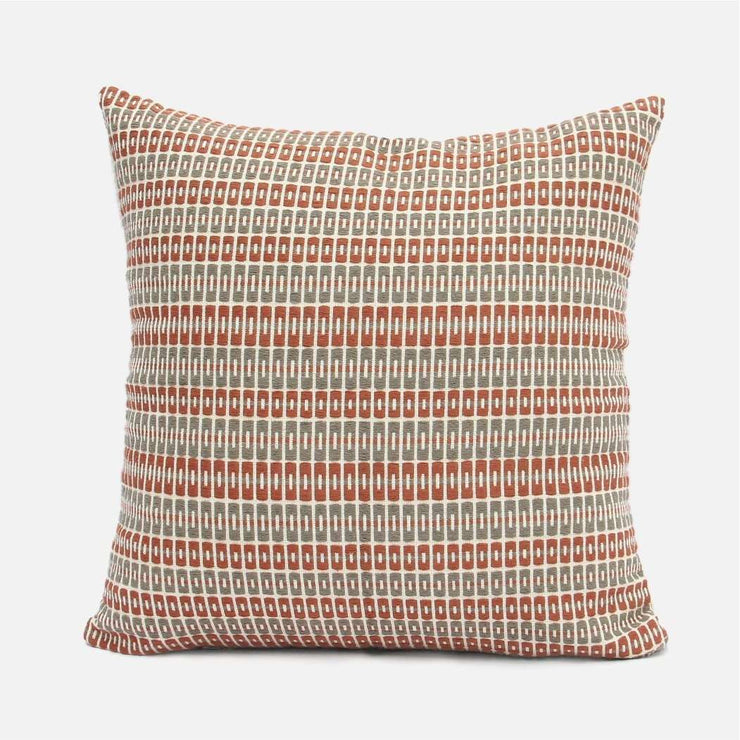 Delft - Rust and Gray Cushion Cover