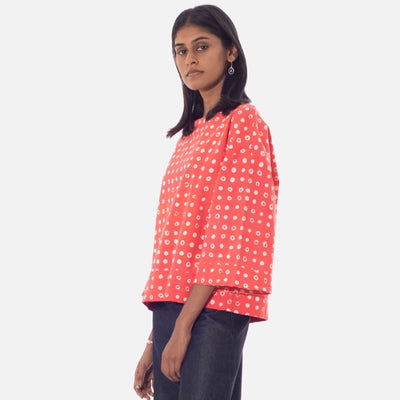 Dot Batik Tunic Top