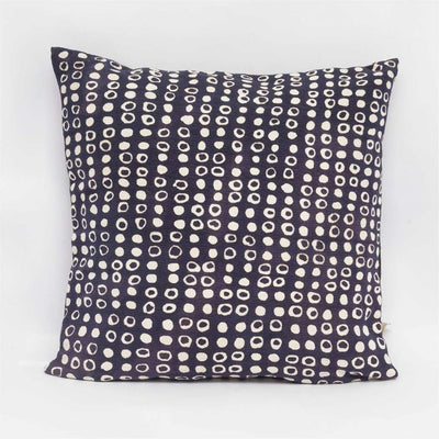 Dot Print Navy Cushion Cover