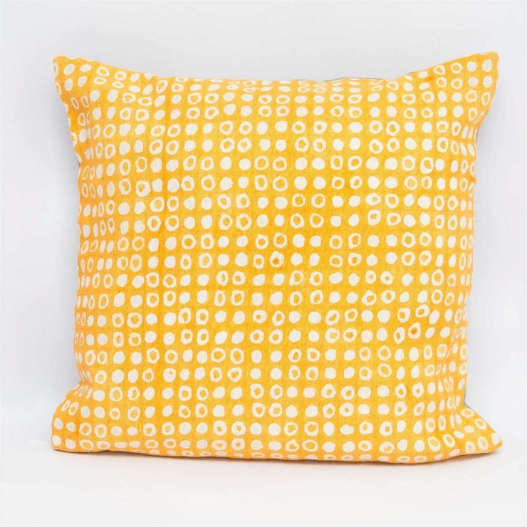 Dot Print Yellow Cushion Cover