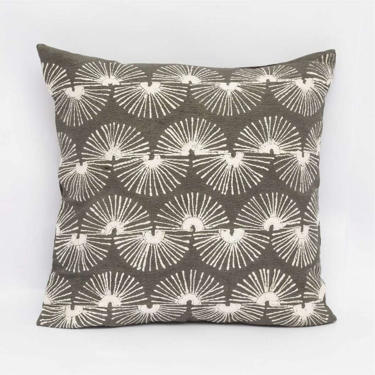 Fan Taupe Cushion Cover