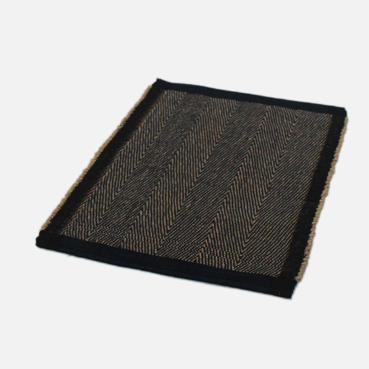 Handloom Placemat Jute and Navy Twill