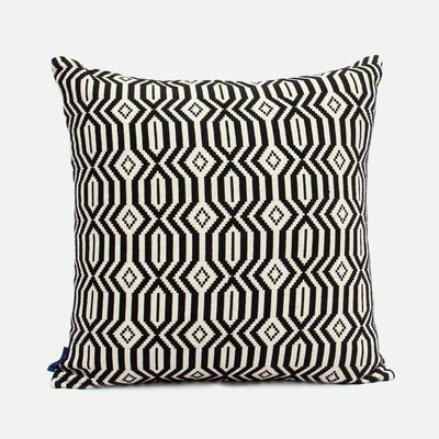 Lattice Rata - Black Cushion Cover