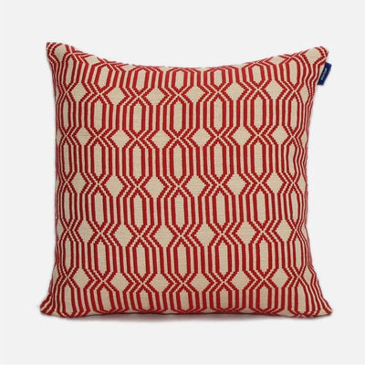 Lattice Rata - Red Cushion Cover