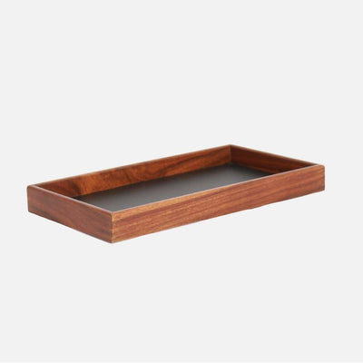 Mina Rectangular Tray Wood/Black