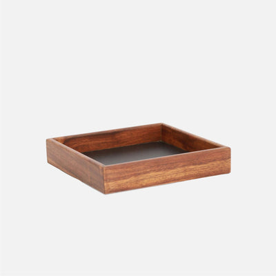 Mina Square Tray Wood/Black