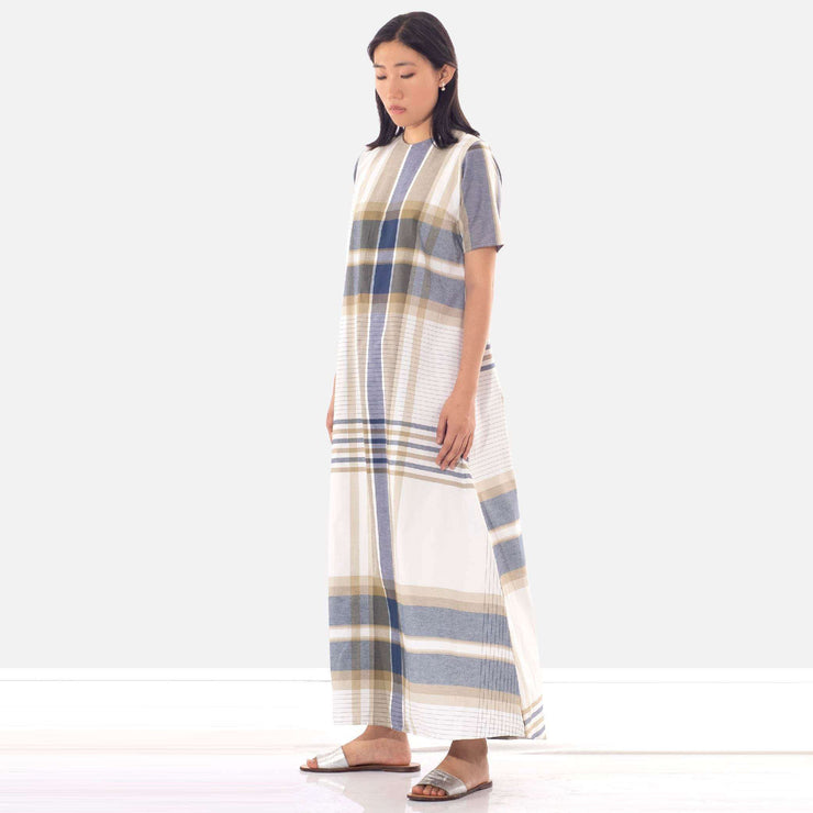 Oversized Check Tunic Dress