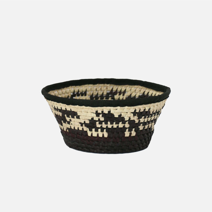 Palmyra Fruit Basket Irregular Dyed Natural/Black