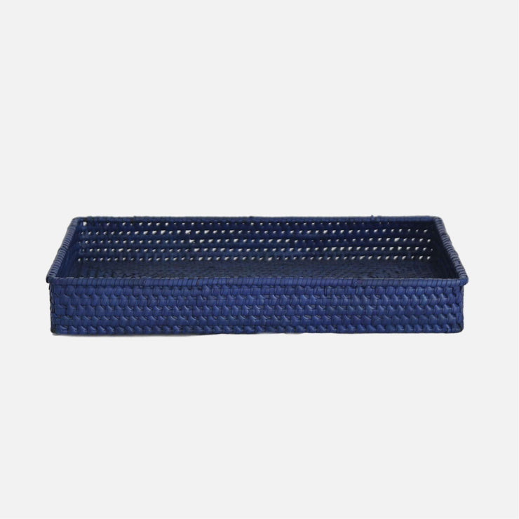 Palmyrah Rectangular Tray Blue