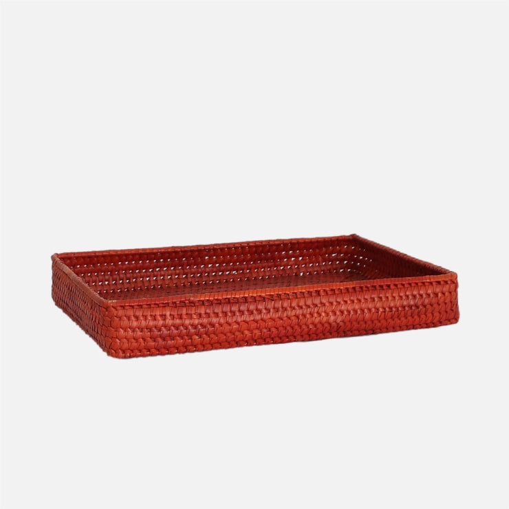 Palmyrah Rectangular Tray Orange