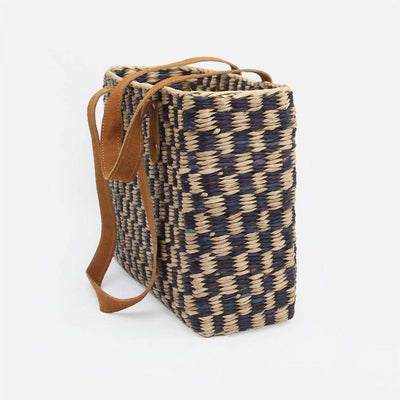 Pung Bag Natural and Blue and Natural A