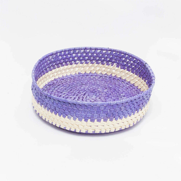 Round Bread Basket L  Violet/Natural