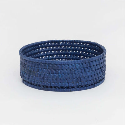 Round Bread Basket L Blue