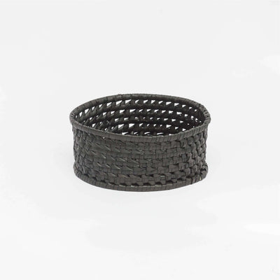 Round Bread Basket S  Black