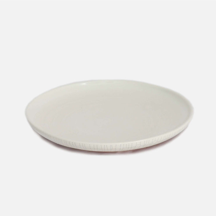 Shore Dinner Plate White Crackle Glaze