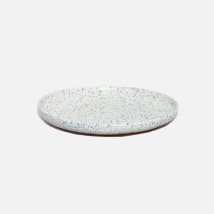 Shore Side Plate White/Blue Speckle