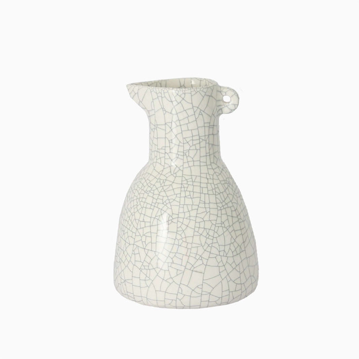 Small Bird Small Pitcher White Crackle
