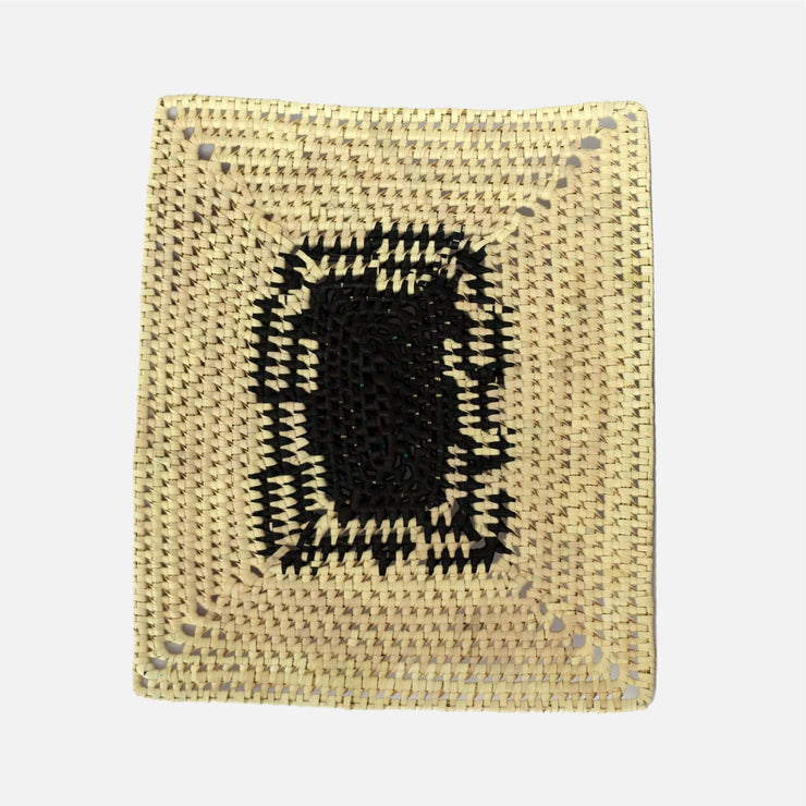 Speckle Palmyra Rectangular Placemat Natural/Black