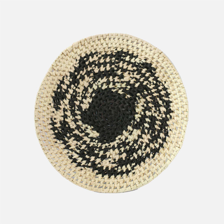 Speckle Round Palmyra Ring Placemat Natural/Black