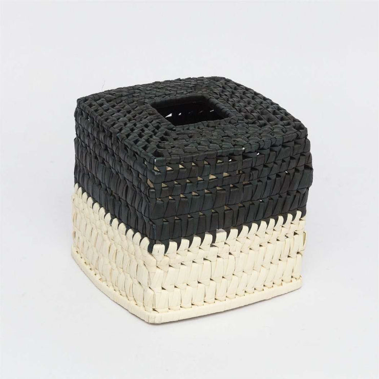 Tissue Box - Square   black/natural