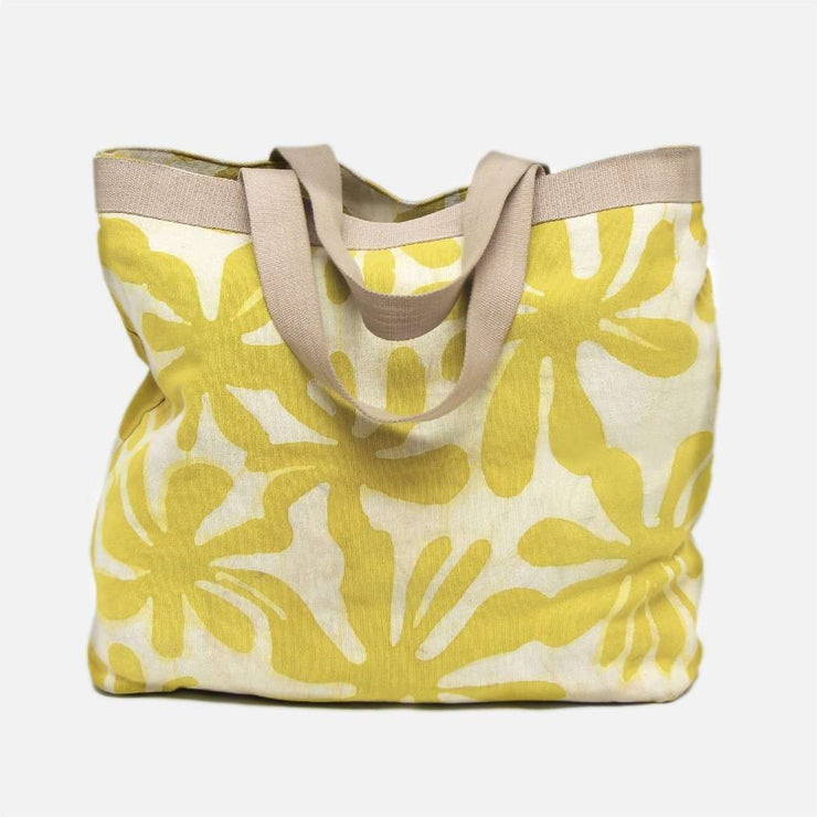 Tote Bag in Yellow Araliya Batik