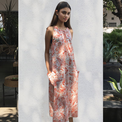 Printed Cotton Sun Dress