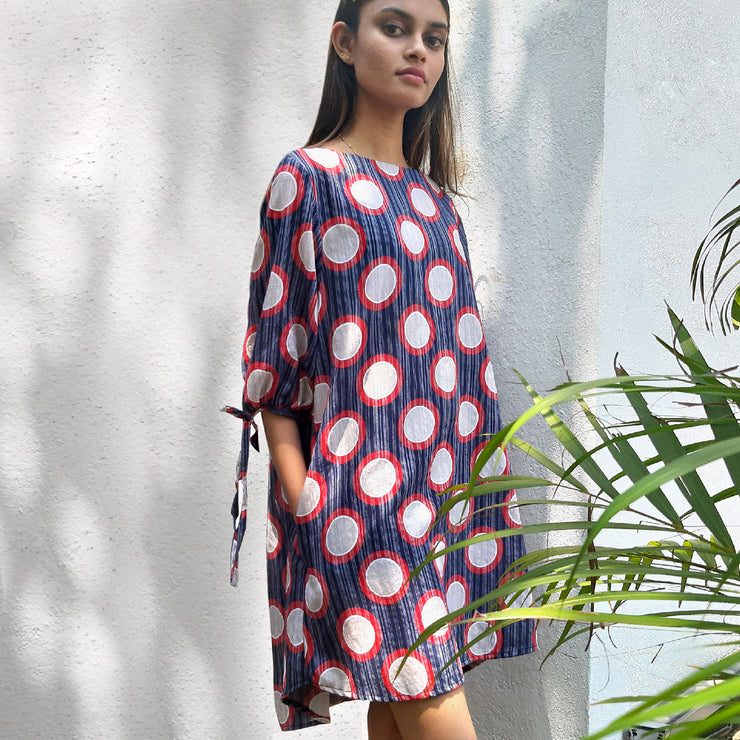 Graphic Circle Print Dress