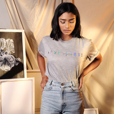 Love is Love Grey Tshirt