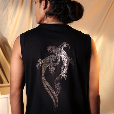 Mythical Birds Foil Black Arm Cut