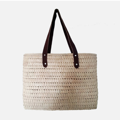 Palmyrah Kopay Beach Basket Natural