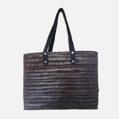 Palmyrah Kopay Beach Basket  Brown
