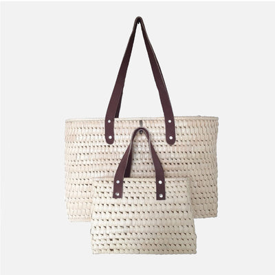 Palmyrah Kopay Twin Bags - Natural