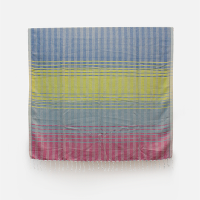 HL Throw Seetha Eliya - Blue Yellow Pink
