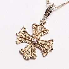 Load image into Gallery viewer, Handcrafted Athenian Byzantine Orthodox Cross – 14KT GOLD