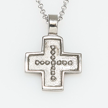 Load image into Gallery viewer, Ioannis Byzantine Orthodox Cross – Stainless Steel