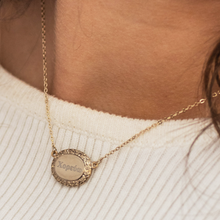 Load image into Gallery viewer, 'I Dance' Necklace in Greek Letters - Gold Tone