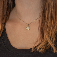 Load image into Gallery viewer, 'Opa' Octogonal Shape Necklace in Greek Letters - Gold Tone