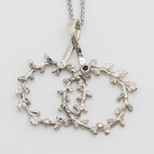 Load image into Gallery viewer, Theo's Crowns (Olive Leaf) Stefana Necklace with Two Gemstones