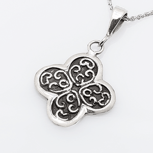 Kalliope Byzantine Orthodox Cross - Sterling Silver