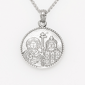 Saints Constantine and Helen Byzantine Orthodox Two Sided Medallion