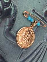 Load image into Gallery viewer, Saints Constantine and Helen Filahto with Blue Beads
